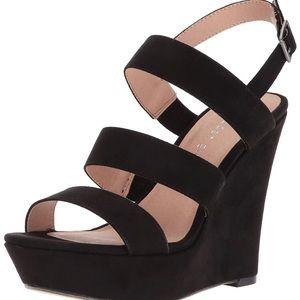Madden Girl Blenda Wedge Sandal, Size 8, Black